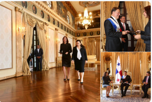 Presidente de Panamá recibió a representante diplomática de Venezuela