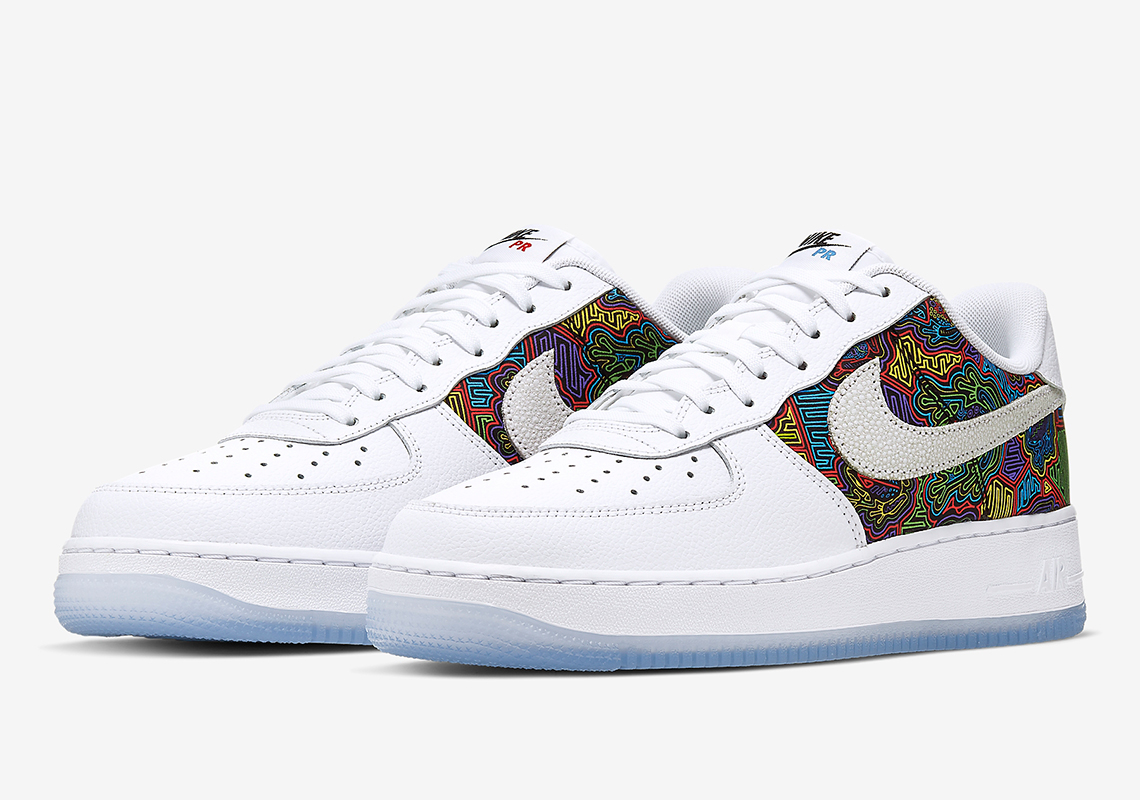 A Festive Mural Appears On The Nike Air Force 1 Low