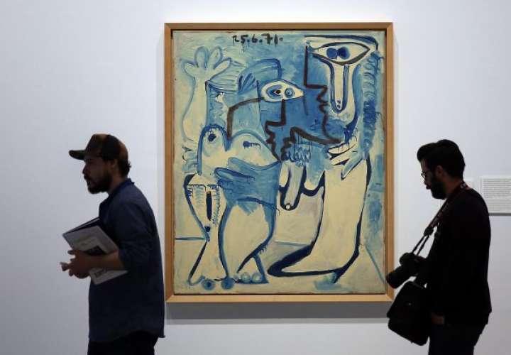 Obra 'Couple', de Pablo Picasso.  ALEJANDRO RUESGA