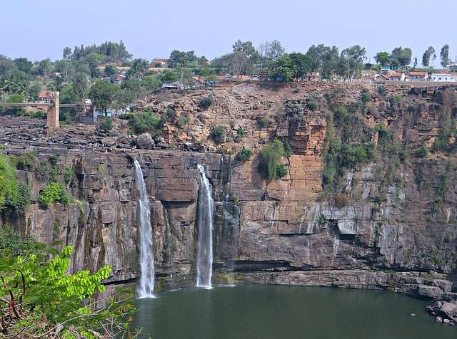 Vista general de las cataratas Gokak, de India. Foto: Pixabay